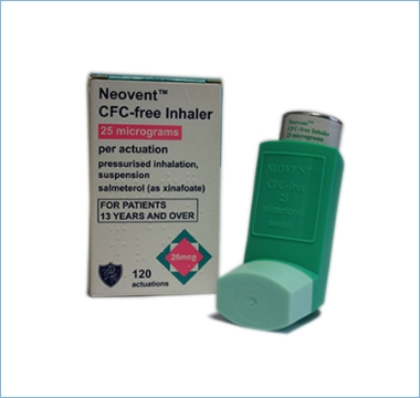 Neovent 25 inhaler CFC free